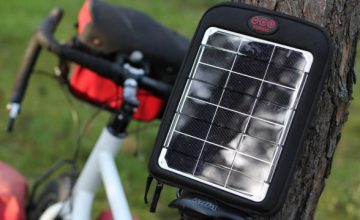 solar smartphone charger for bicycle touring