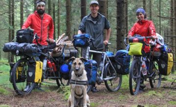 bicycle touring pro bike tour in sweden with bike canine pablo ana and hippie