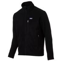 patagonia black fleece jacket for bicycle touring