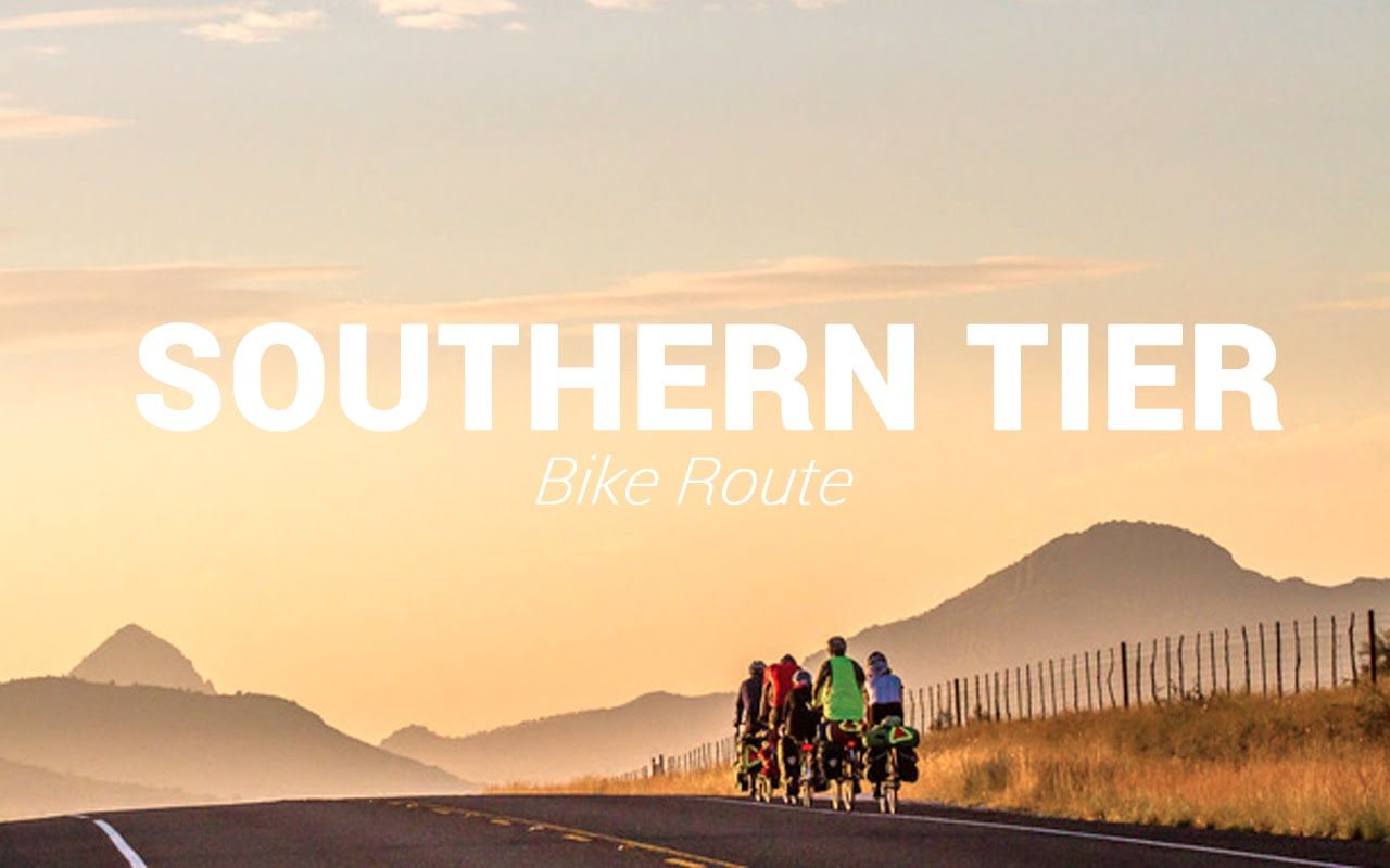southern tier winter cycling route