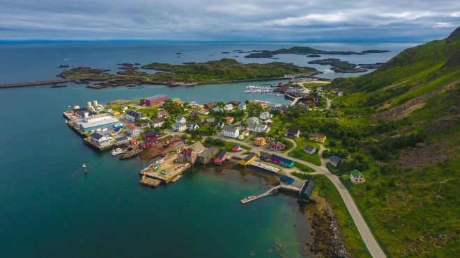 Ballstad Norway aerial photo from drone photography norway
