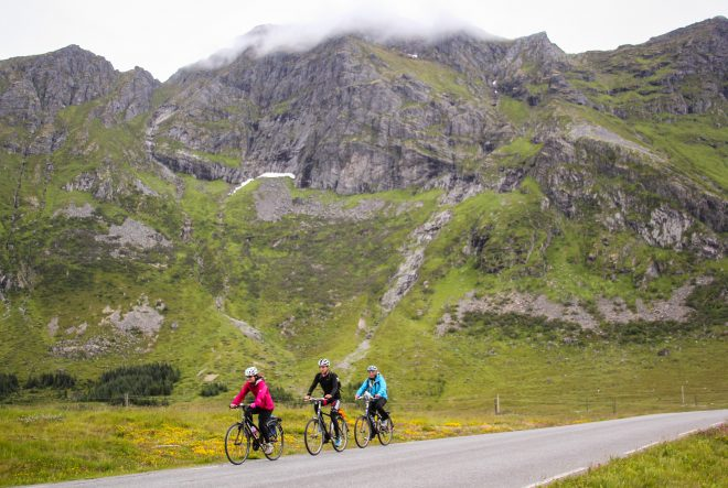 lofoten islands family cycling vacation in norway