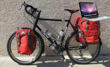 How to carry a laptop computer on your bicycle
