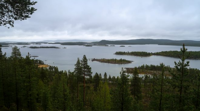 Lake Islands near Ivalo Finland