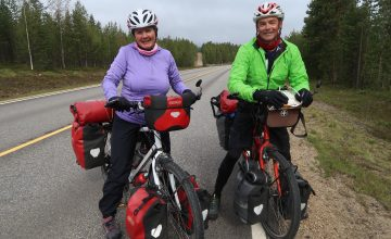 bicycle tourists in sweden finland and norway