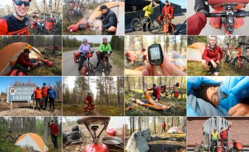 photo collage of 2017 bike tour to the nordkapp in norway