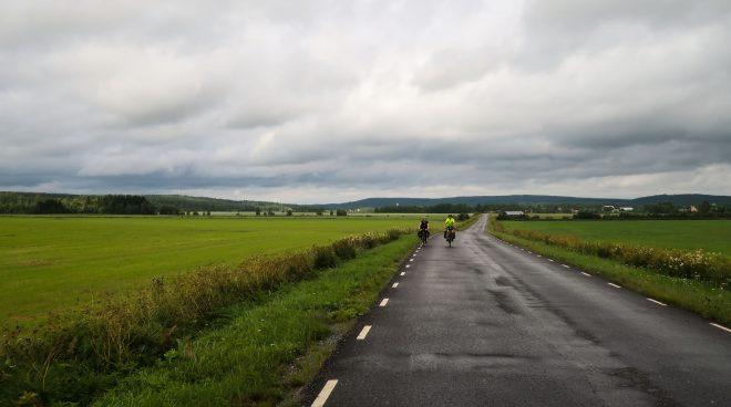 Typical Swedish landscape for cycling