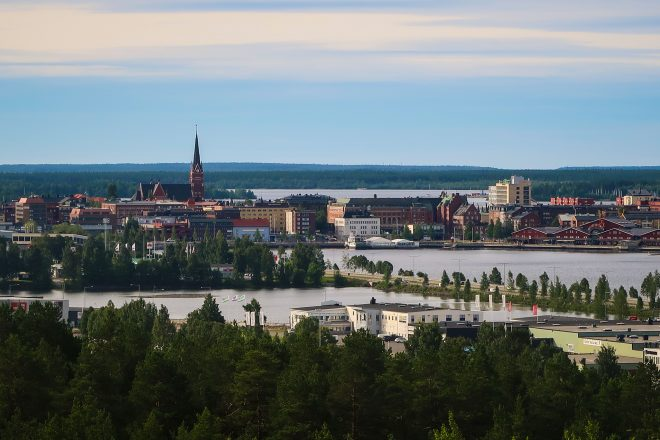 The city of Lulea, Sweden