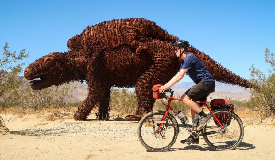 Bicycle Touring in the Anza-Borrego Desert Sculpture Map and GPS route