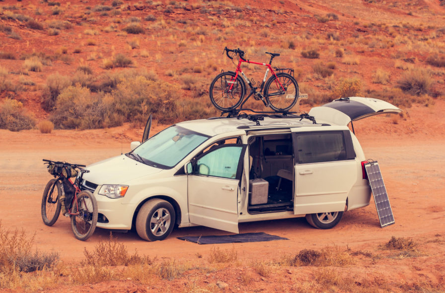 vanlife with bicycles