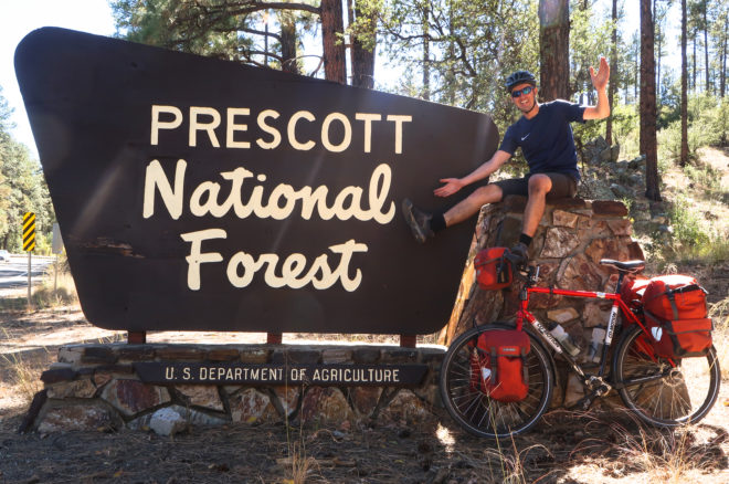 cycling in Prescott National Forest