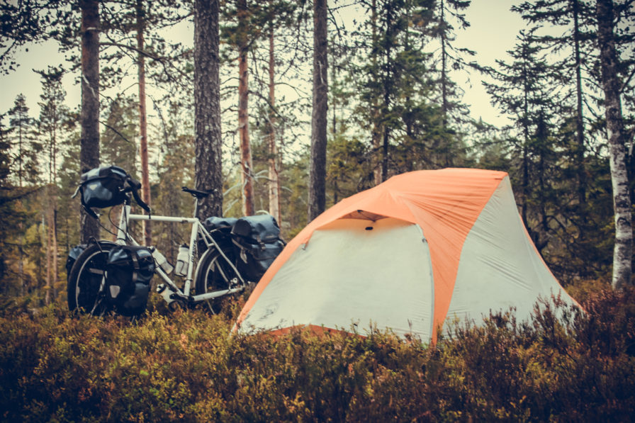 bicycle touring tent