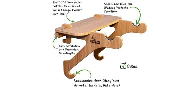grassroots bamboo bicycle rack