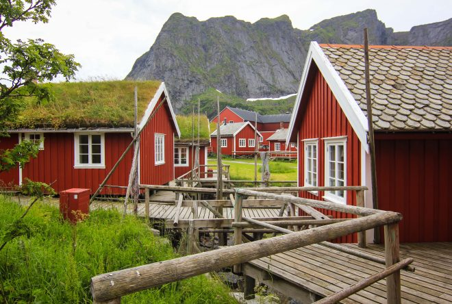 lofoten islands fishermans cabins in reine norway