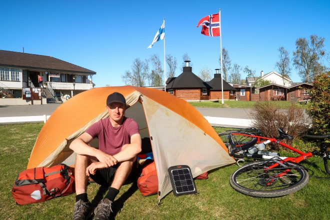 Darren Alff at the Alta River Campground in Alta, Norway