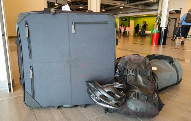 Co-Motion travel case at airport