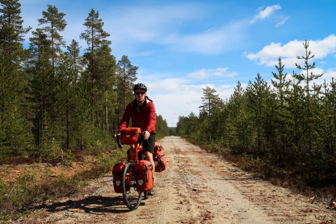 Dirt road bikepacking in Sweden