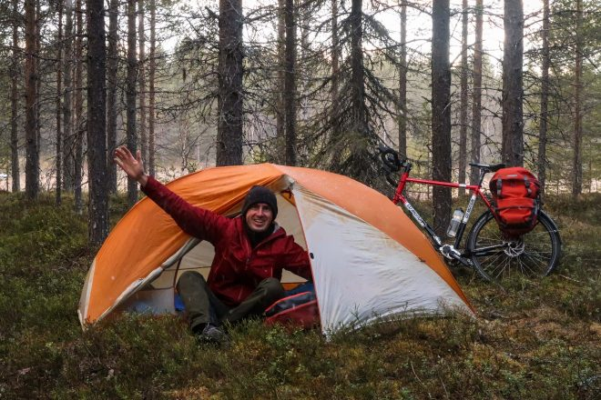 Wild camping bike tour in Sweden with Darren Alff from www.bicycletouringpro.com