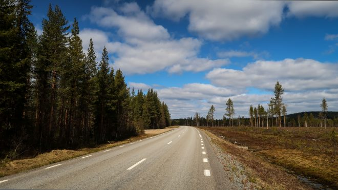 typical Swedish road