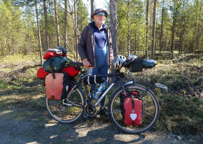 Retired German bicycle traveler
