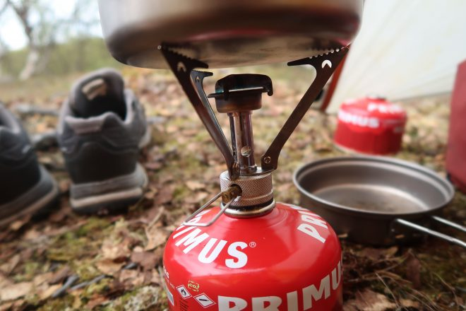 MSR Primus campstove used on bicycle tour