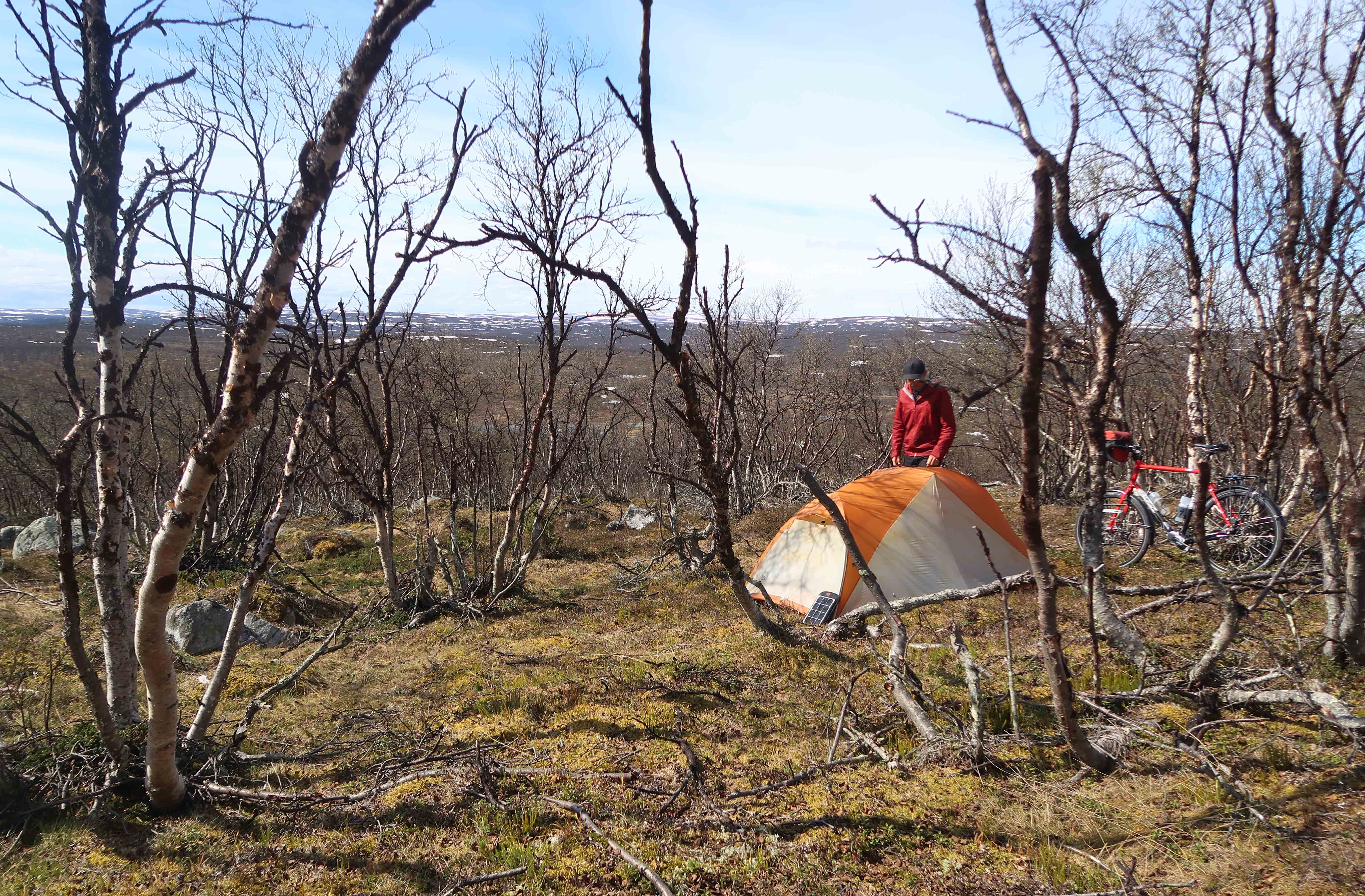 Wild camping in lapland norway - Bicycle Touring Pro
