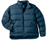 dark blue down winter jacket