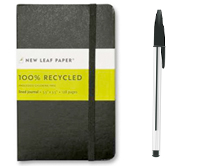 bicycle touring journal and pen