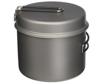 titanium cookpot for bicycle touring