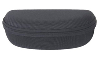 black zippered sunglasses case