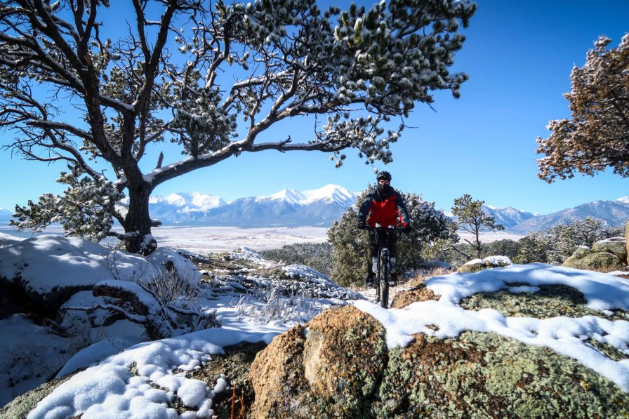Winter Fatbike Cycling in Colorado