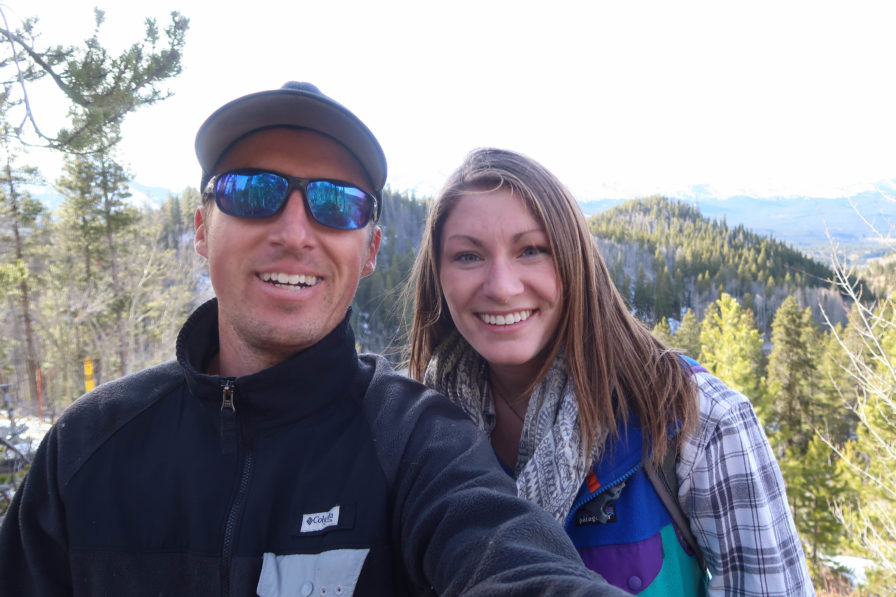 Darren Alff and Becca in Breckenridge, Colorado