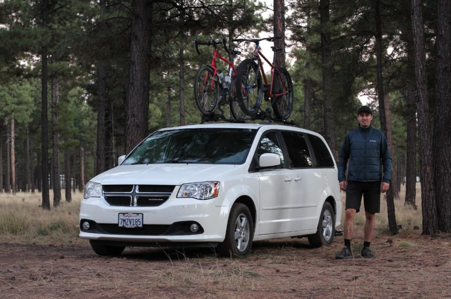 Bicycle Touring Pro's 2011 Dodge Caravan Bicycle Campervan
