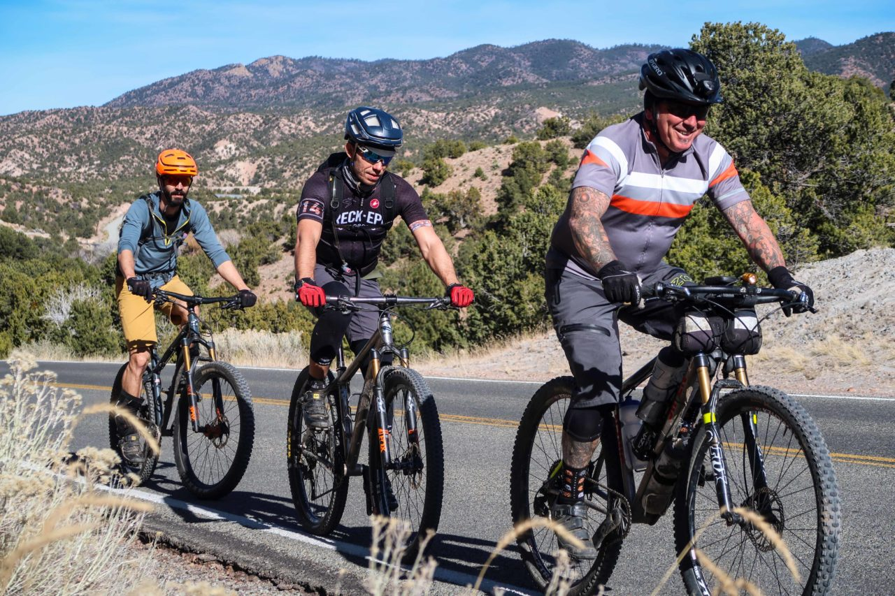 bicycle touring pro readers on a bike ride in santa fe new mexico