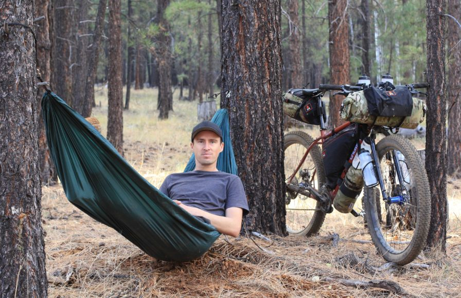 Bkepacking with a hammock