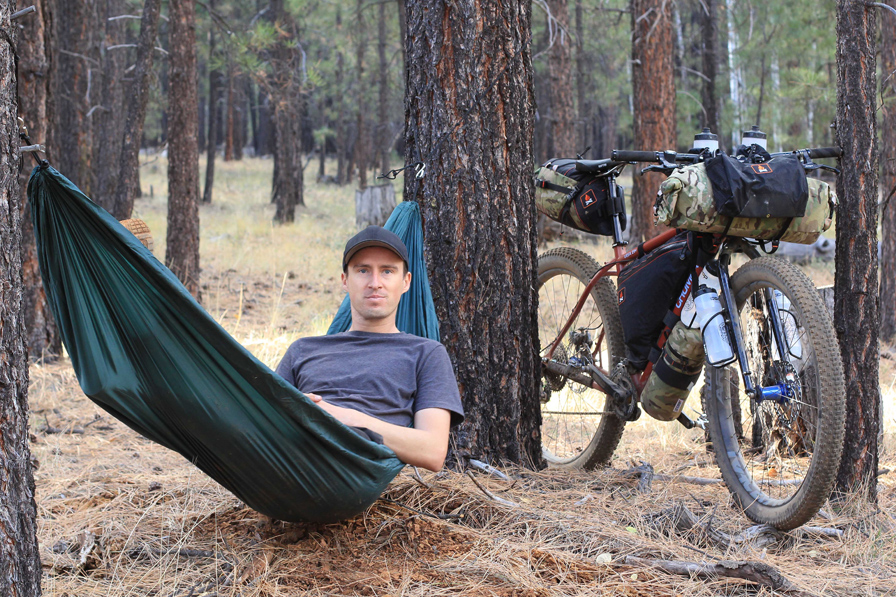Bikepacking with a hammock