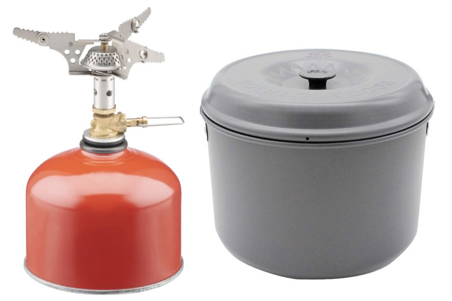 Camp Stove & Cook Pots