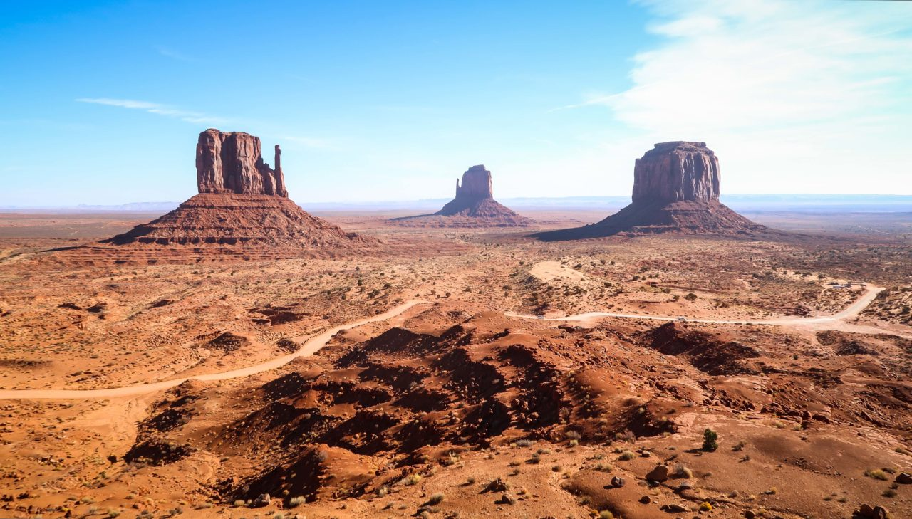 Monument Valley three buttes