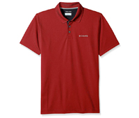 red Columbia Utilizer polo shirt