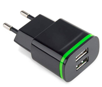 Dual USB European travel adapter