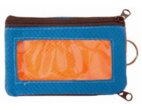 Zippered Travel wallet - orange and blue