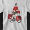 Classic Red Bicycle Touring Pro Shirt Gray 2