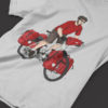 Classic Red Bicycle Touring Pro Shirt Gray 5