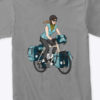 product womans bicycle touring tshirt gray 1