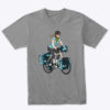 product womans bicycle touring tshirt gray 2