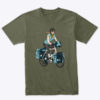 product womans bicycle touring tshirt green 2