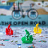 the open road bicycle touring board game colored pieces
