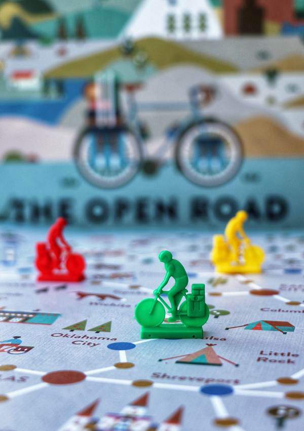 The Open Road - Board Game Cycling Pieces