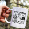 wild camping coffee cup in hand