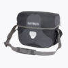 black and gray ortlieb ultimate 6 handlebar bag